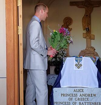 OLDEMORENS GRAV: I 2018 besøkte Prins William hennes grav i den Russisk ortodokse kirken St. Mary Magdalena i Jerusalem. Foto: NTB Scanpix