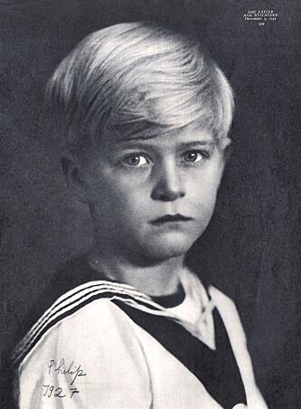VANSKELIG BARNDOM: Prins Philip fotografert i 1927. Som barn ble han sendt for å bo med slektninger i Europa. Foto: NTB Scanpix