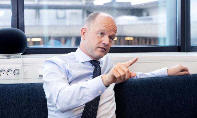 <strong>KLAR MELDING:</strong> NHO sjef Ole Erik Almlid vil ha tøffe krav fra politikerne. Foto: Kristin Svorte