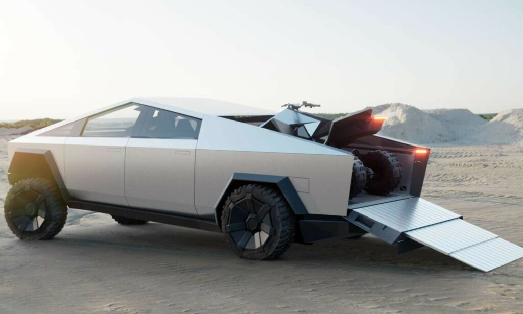 ATV: Elon Musk avslørte også at de har laget en elektrisk ATV. Foto: Tesla