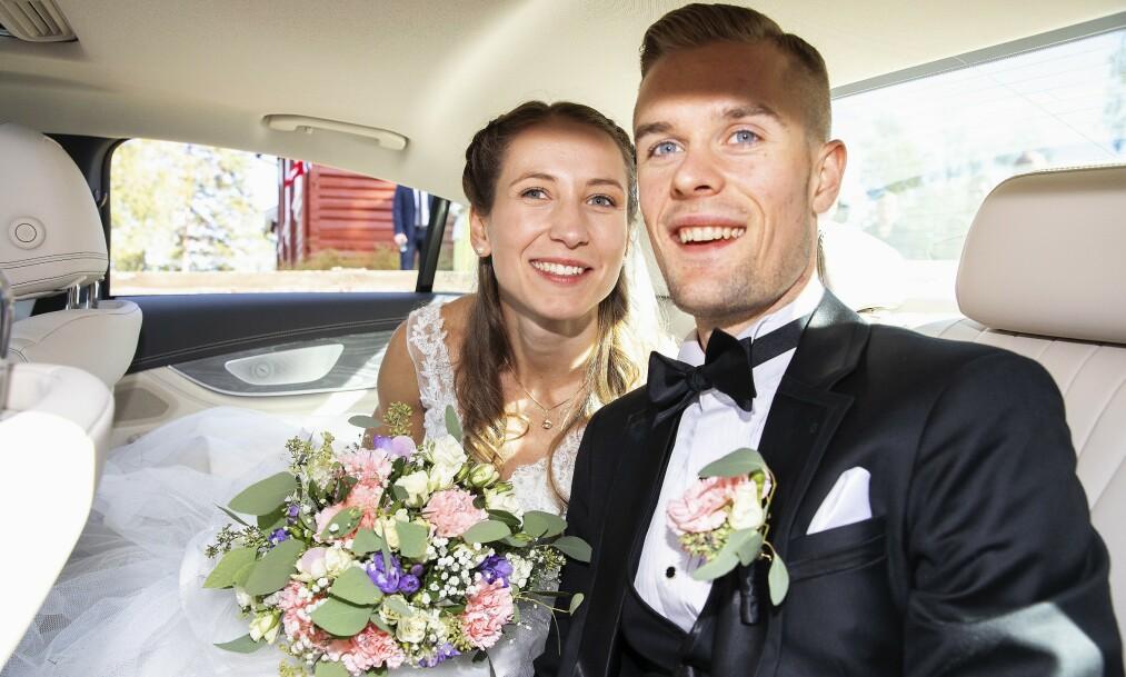 <strong>FORELDRE:</strong> Løpelegenden Filip Ingebrigtsen og kona Astrid Mangen Ingebrigtsen venter deres første barn. Nå avslører de kjønnet. Foto: Andreas Fadum/ Se og Hør