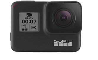 <strong>MANGEL:</strong> GoPro har fortsatt ikke videoskjerm foran. Du kan lett bruke GoPro-mobilappen til oppsett. Men til selfie-filming må du fortsatt gjette utsnittet. Foto: GoPro