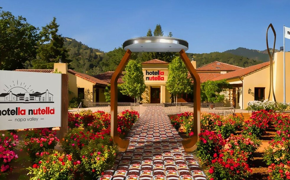 EN DRØM? I januar åpner Nutella dette pop up-hotellet i California. Foto: Nutella