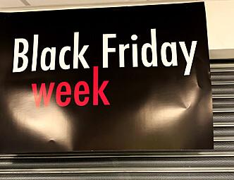 Black Friday week på Hasle Torg i Oslo. Men hva i all verden er det? Foto: Birgitte Hoff Lysholm