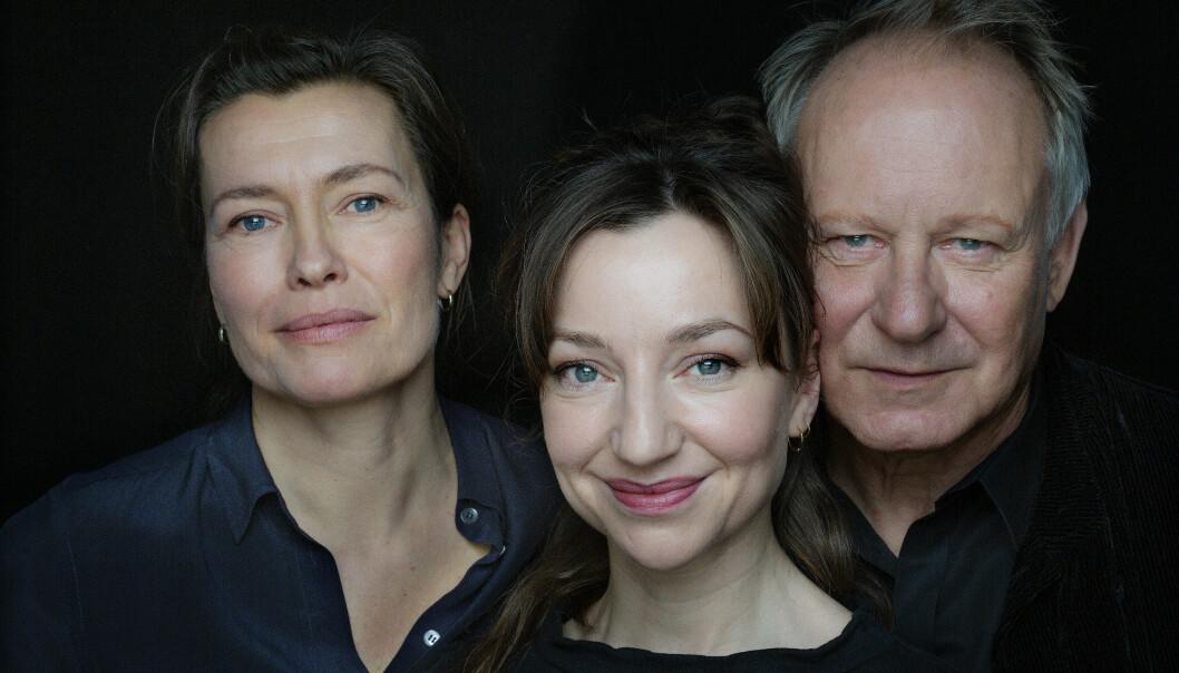 SAMMENSVEISET: Andrea Bræin Hovig og Stellan Skarsgård har hovedrollene i Håp, som Maria Sødahl har regissert. Den er basert på hennes egne erfaringer med kreftsykdommen. FOTO: SF Studios / Motlys / Agnete Brun