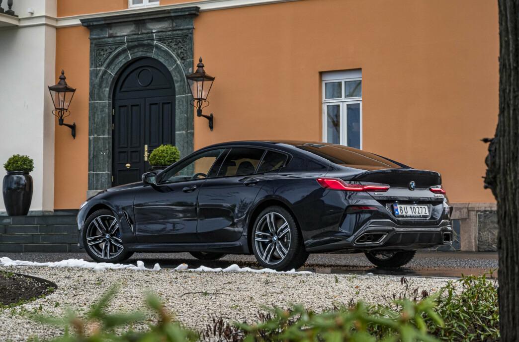 <strong>BMWs COUPE-FLAGSKIP:</strong> Nye BMW 8-serie Gran Coupe tar opp kampen mot Audi A7, Mercedes-AMG GT63 og Porsche Panamera. Foto: Jamieson Pothecary