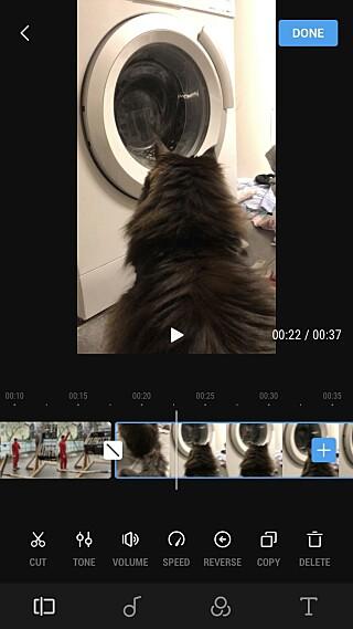 MOBILAPPEN: DJI sin app er bra, men har noen begrensninger i forhold til GoPro sin. Foto: Skjermdump