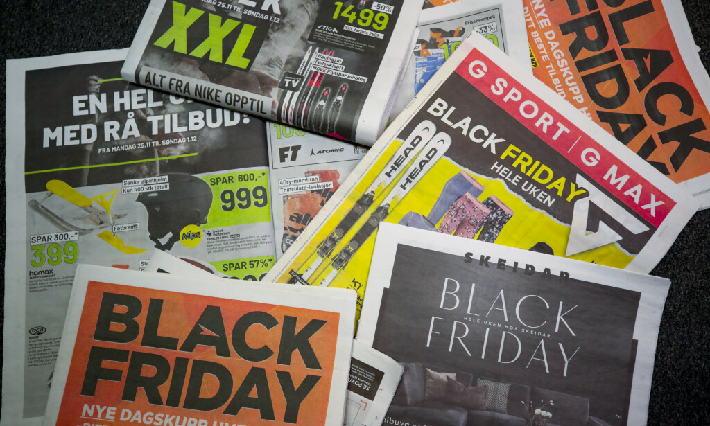 TILBUDSFEST?: Black Friday og Black Week preger denne uka. De store leverandørene av sportsklær, møbler og elektro fyller postkasser og aviser. Foto: Lise Åserud / NTB scanpix