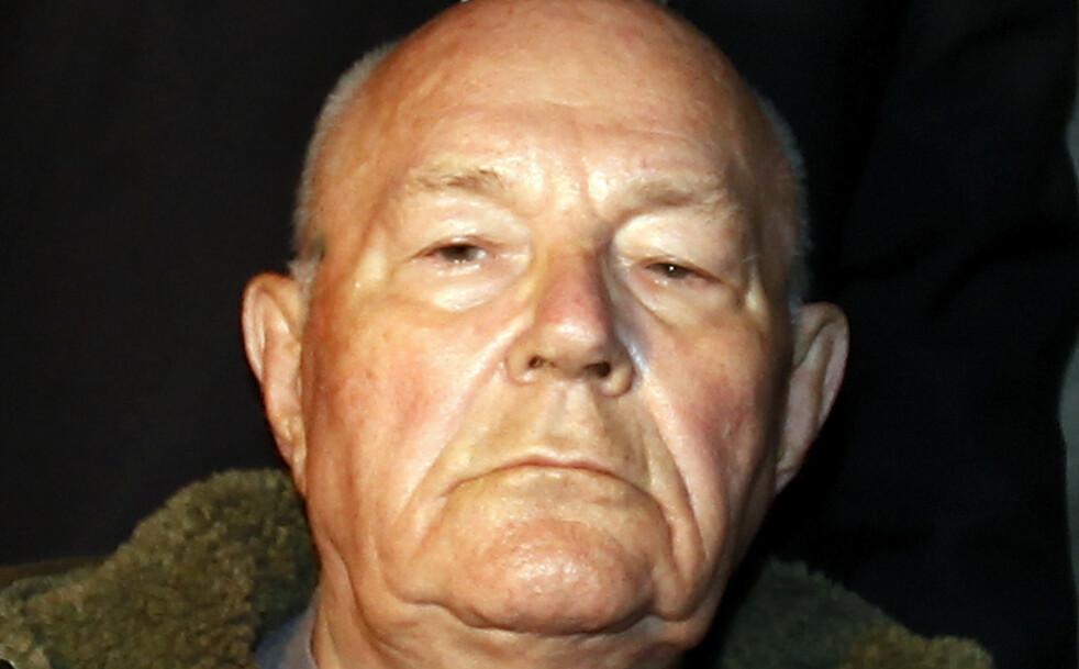 DØMT: John Demjanjuk ble to ganger dømt til medvirkning til massedrap under 2. verdenskrig. Underveis ble det sådd tvil om hans egentlige identitet. Her er han fotografert i München etter at han fikk sin siste dom 12. mai 2011. Foto: Reuters/NTB Scanpix
