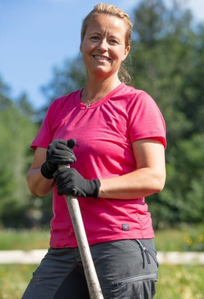 PÅ TV: Vibecke Garnaas (44) har gjort seg bemerket i årets «Farmen»-sesong, der hun fortsatt er blant de gjenværende deltakerne. Foto: Alex Iversen / TV 2