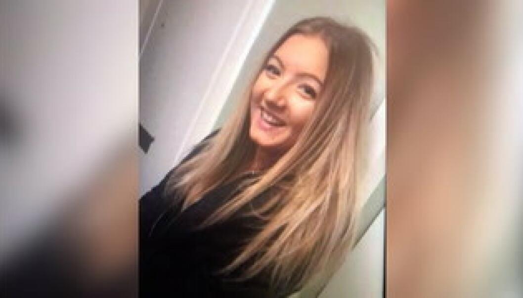 <strong>FORSVANT:</strong> I midten av november ble Wilma Andersson (17) meldt savnet i Uddevalla. Nå er ekskjæresten tiltalt for drap og partering. Foto: Privat