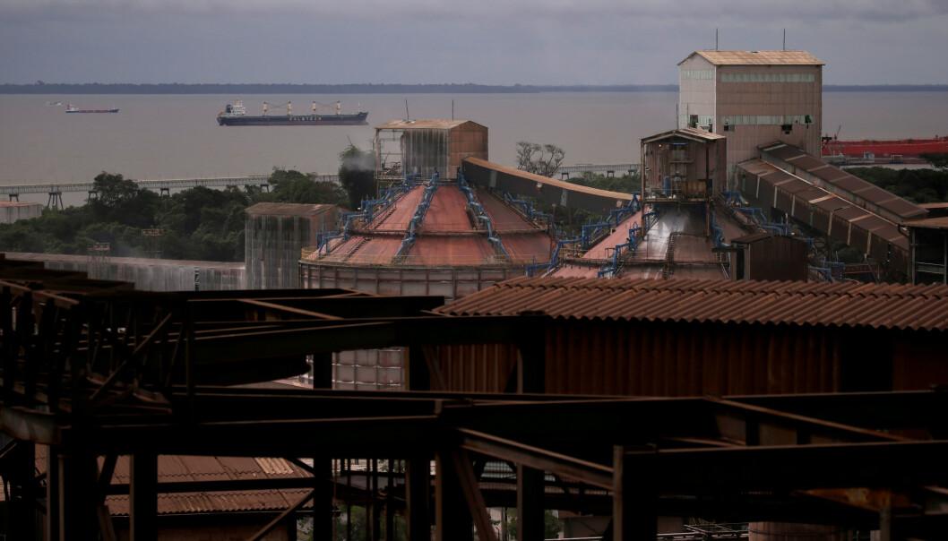 <strong>VERDENS STØRSTE:</strong> Hydros aluminaraffineri Alunorte i Pará i Brasil er verdens største, og har enorm betydning for selskapet. Foto: Ricardo Moraes / Reuters / NTB Scanpix