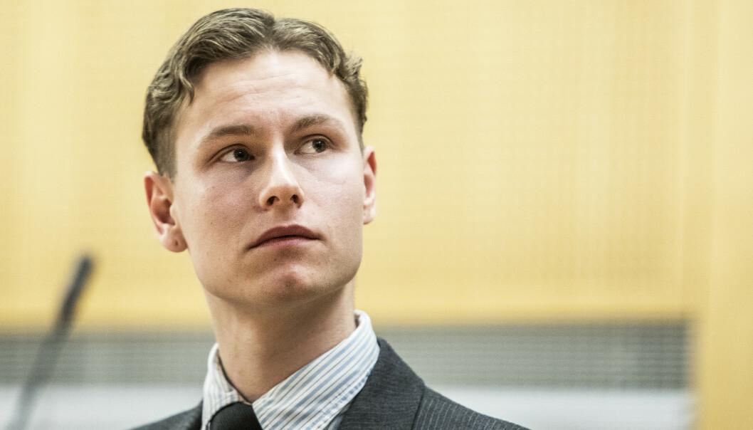 Draps- og terrorsiktede Philip Manshaus i Oslo tingrett mandag. 22-åringen ble varetektsfengslet i ytterligere fem uker. Foto: Ole Berg-Rusten / NTB scanpix