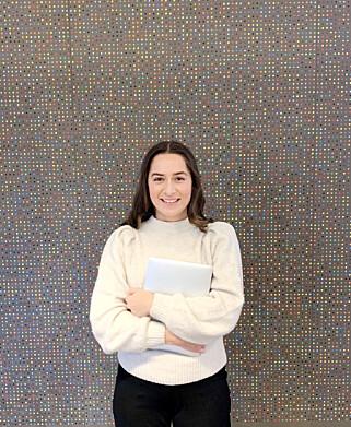 - Jeg tror mange utviklerteam har veldig godt av å få økt forståelse og for forretningssiden av løsningen man utvikler, sier studenten Elena Snellingen. 📸: Privat