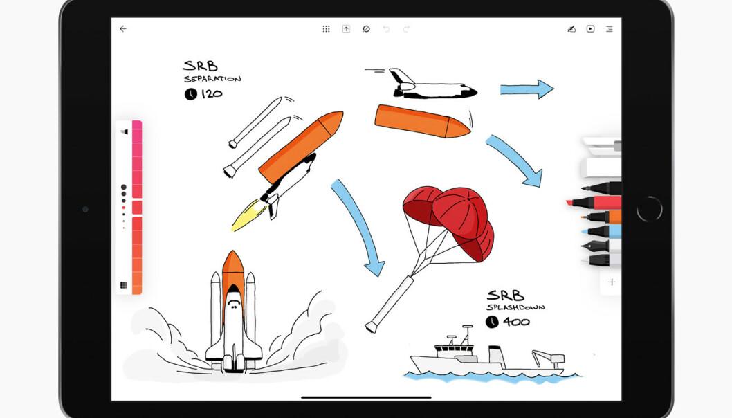 <strong>GJENNOMFØRT:</strong> Ikke bare ser Flow veldig pen ut, den byr også på masse ulike verktøy for å lage ordentlig flotte digitale notater.