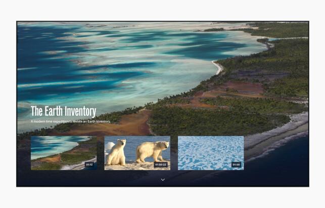 UTFORSK VERDEN: Med The Explorers kan du se flotte naturvideoer i 4K-oppløsning på Apple TV-en din.