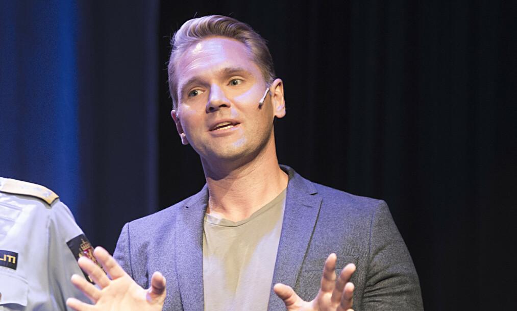 GLADNYHET: «Åsted Norge»-programleder Jens Christian Nørve blir pappa til våren. Foto: NTB Scanpix