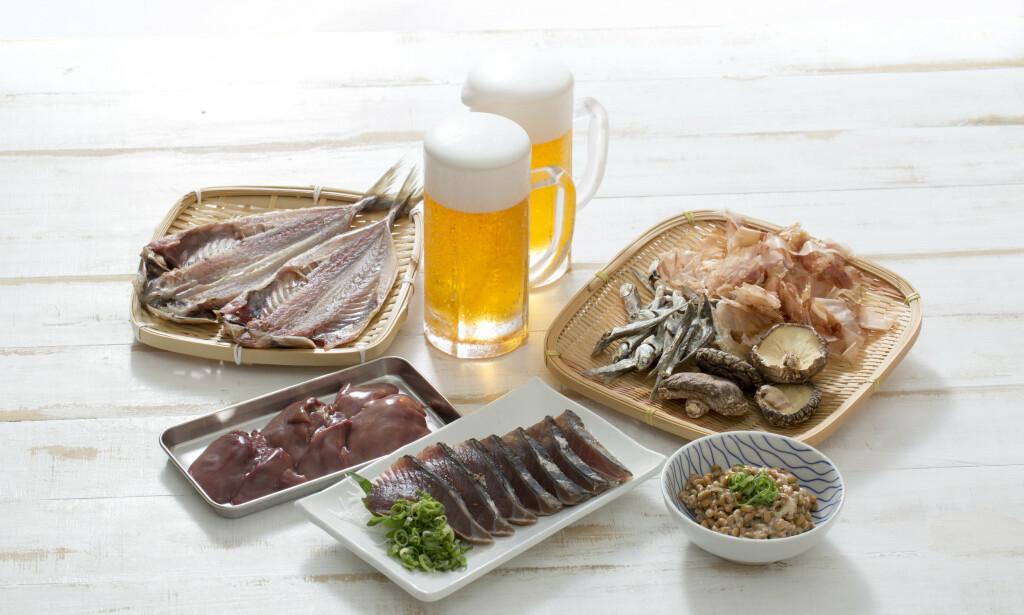UNNGÅ DETTE: Matvarer er det lurt å begrense ved urinsyregikt. Foto: NTB Scanpix/Shutterstock