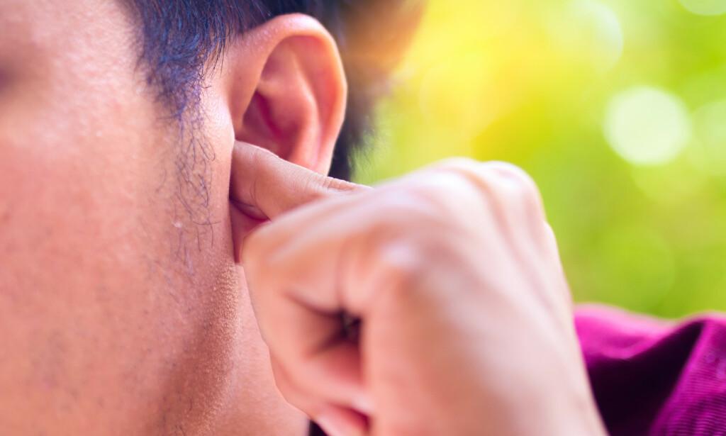 LYDER: Man kan oppleve flere lyder fra selve øret. Foto: Shutterstock / NTB Scanpix