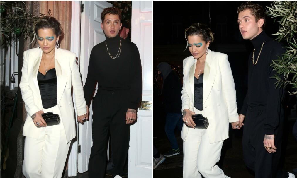 <strong>NYTT PAR:</strong> Rita Ora skal ha blitt kjæreste med Rafferty Law. Her er de avbildet sammen mandag denne uka. Foto: NTB Scanpix