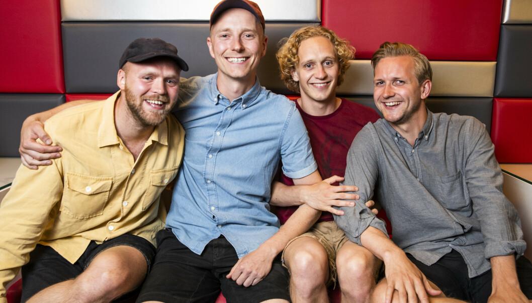 HVITE GUTTER: Fra venstre ser vi Torjus Tveiten, Eirik Hvattum, Johannes Roaldsen Fürst og Jørgen Evensen. Foto: NTB Scanpix