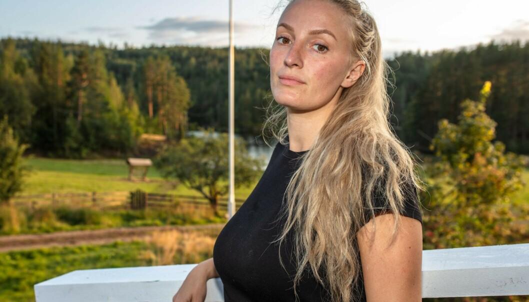 <strong>HETSES PÅ NETT:</strong> Ingebjørg Monique Haram (31) opplever at folk anklager henne for å juks i «Torpet». Foto: TV 2