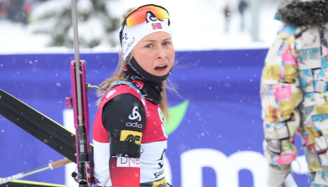 Ingrid Landmark Tandrevold imponerte med 3.-plass på torsdagens normaldistanse i Östersund. Foto: Geir Olsen / NTB scanpix
