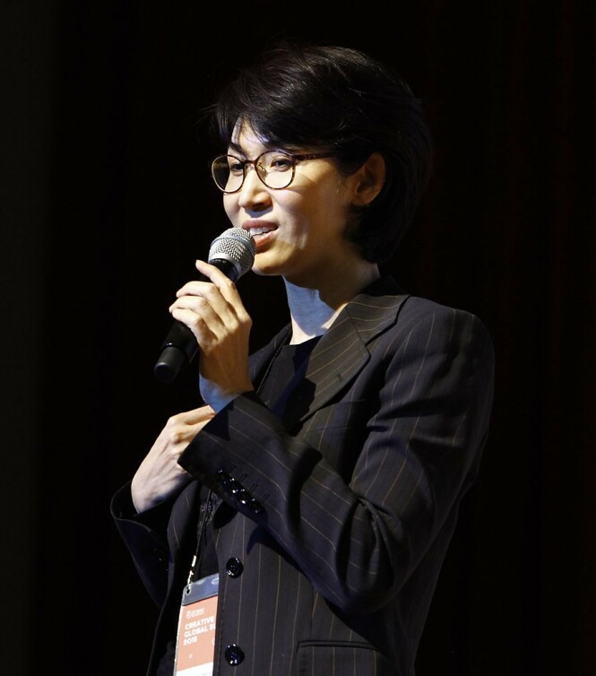 KJEMPER: Gründer og presidentdatter Roh Soh-yeong vil ha med seg aksjer verdt 10,9 milliarder kroner i skilsmisseoppgjøret. Foto: CCKorea under CC-by-2.0-linsens
