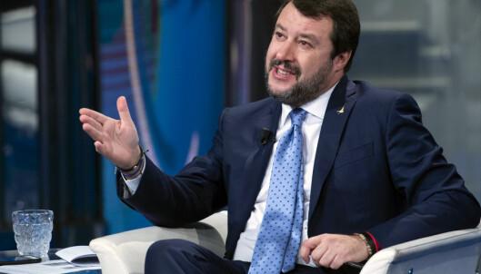 <strong>BOIKOTT:</strong> Matteo Salvini er nødt til å bytte sjokoladepålegg. Foto: Maurizio Brambatti / ANSA / AP / NTB Scanpix