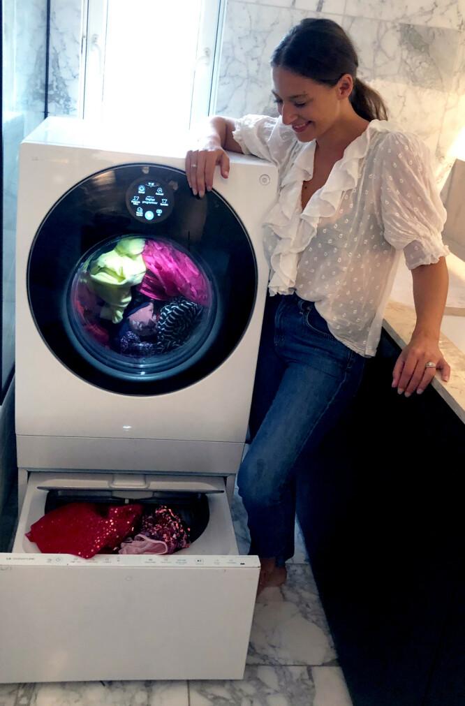 LGs TWINWash gjør at du kan vaske to klesvasker samtidig, og vaske og tørke i samme maskin.