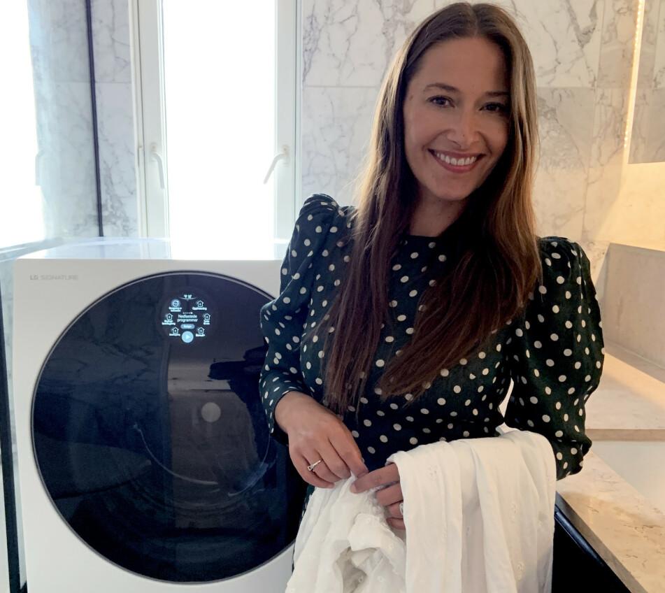 Pia Tjelta er ambassadør av LG SIGNATURE. Vaskemaskinen TWINWash sørger for skånsom vask som gjør at klærne hennes varer lengre.