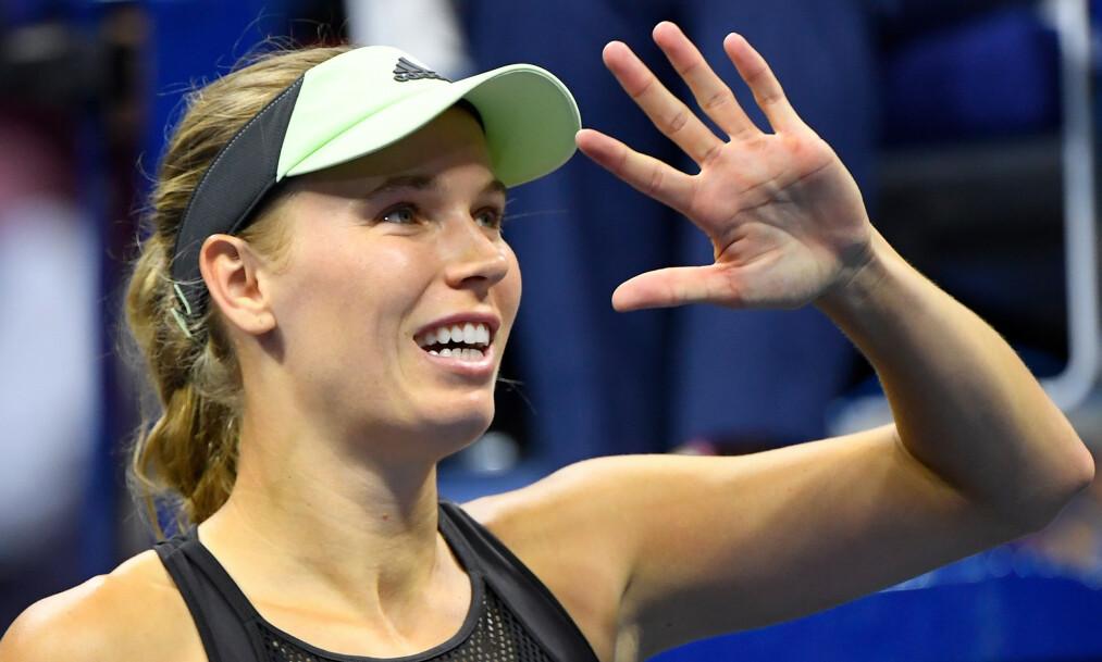 <strong>LEGGER OPP:</strong> Caroline Wozniacki. Foto: Robert Deutsch / Reuters / NTB Scanpix