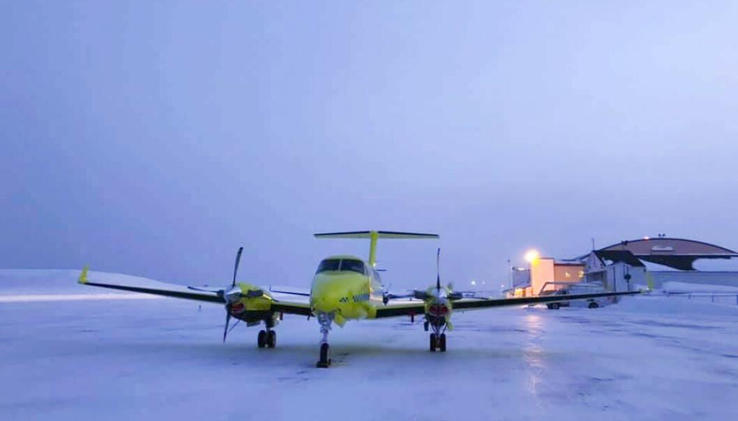 Fem av de nye Beech B250-flyene til Babcock er tatt ut av tjeneste på grunn av tekniske problemer. Med seks operative fly betyr det at tjenesten nesten er halvert. Foto: BSAA / NTB scanpix.