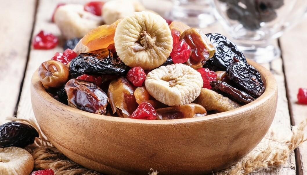 MYE SUKKER: Tørket frukt inneholder ofte tilsatt sukker. FOTO: NTB Scanpix
