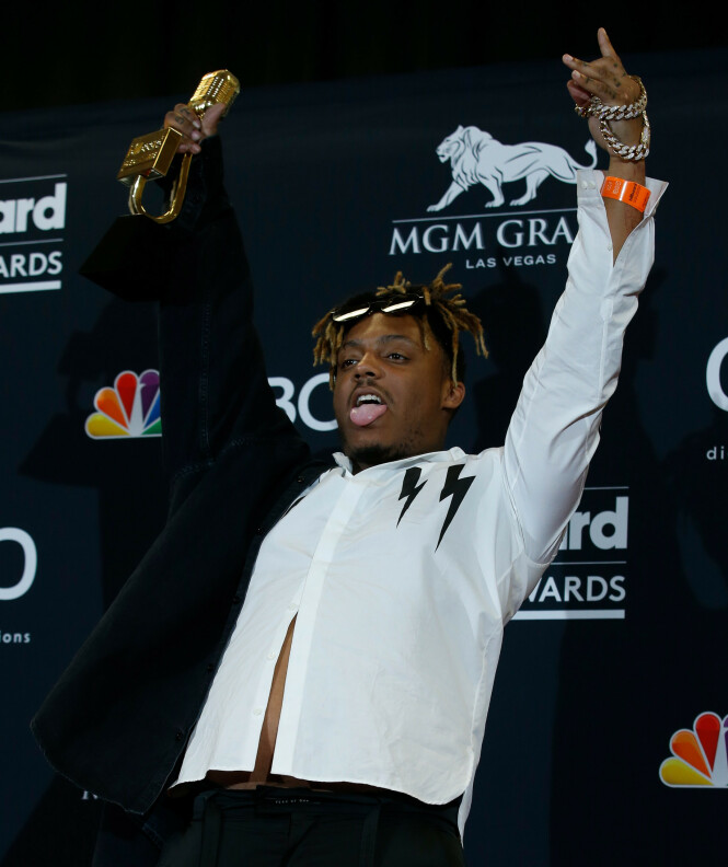 PRISVINNER: Rapperen vant prisen for årets nye artist på Billboard Music Awards i mai. Foto: NTB Scanpix