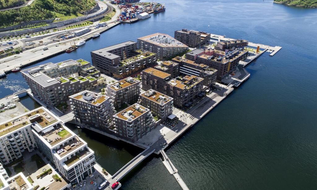 ADVARER: Norske boligpriser stiger til nye høyder, selv om veksten har bremset. Det betyr at husholdningenes gjeld fortsatt vokser raskere enn de disponible inntektene, noe som øker risikoen for en smell, advarer OECD i fersk rapport. Foto: Tore Meek / NTB scanpix