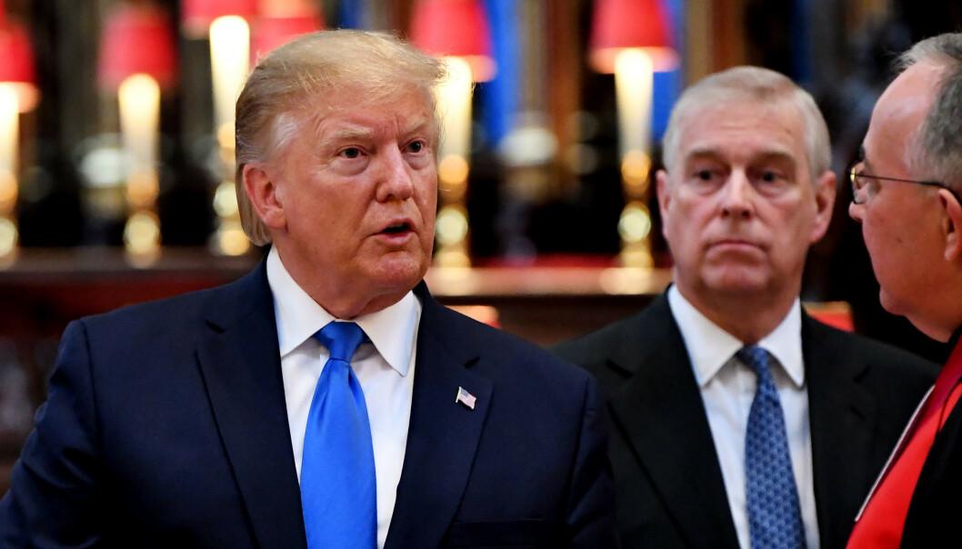 MØTTES: I juni møttes Andrew og Trump ved minst to anledninger under Trump-familiens Storbritannia-besøk. Foto: NTB Scanpix