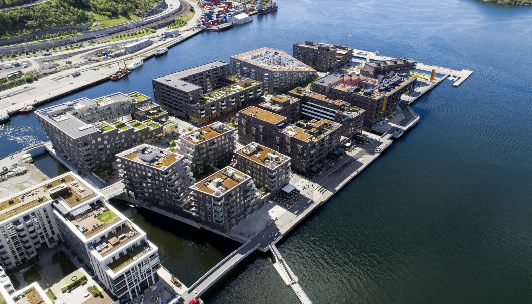 Norske boligpriser stiger til nye høyder, selv om veksten har bremset. Det betyr at husholdningenes gjeld fortsatt vokser raskere enn de disponible inntektene, noe som øker risikoen for en smell, advarer OECD i fersk rapport. Foto: Tore Meek / NTB scanpix