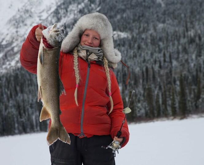 <strong>PÅ EVENTYR:</strong> Tonje Blomseth i Kanadas villmark. Foto: TV 2