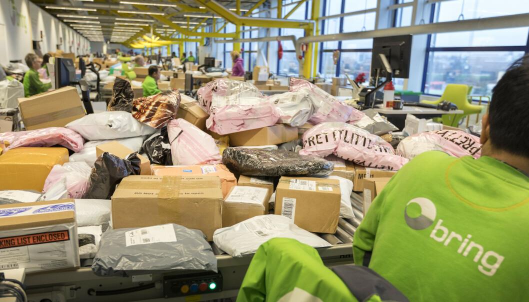 Posten og Brings logistikksenter på Alnabru i Oslo. Foto: Gorm Kallestad / NTB scanpix