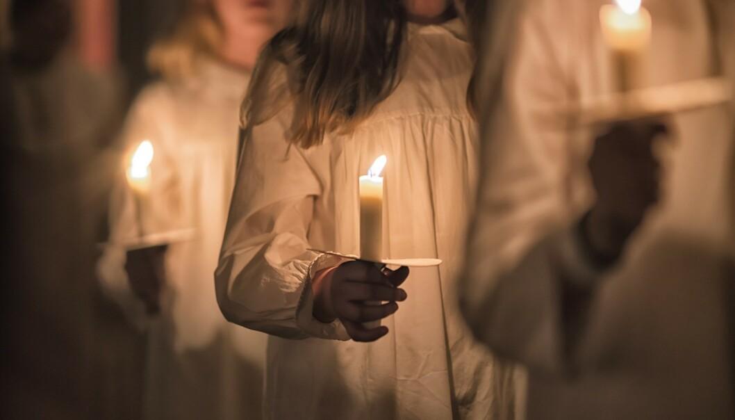 LUCIATOG: Dagens barnehager er opptatt av at alle barn skal inkluderes i Luciafeiringen, men at det også er god læring i å ikke alltid være den som står i fokus. FOTO: NTB Scanpix