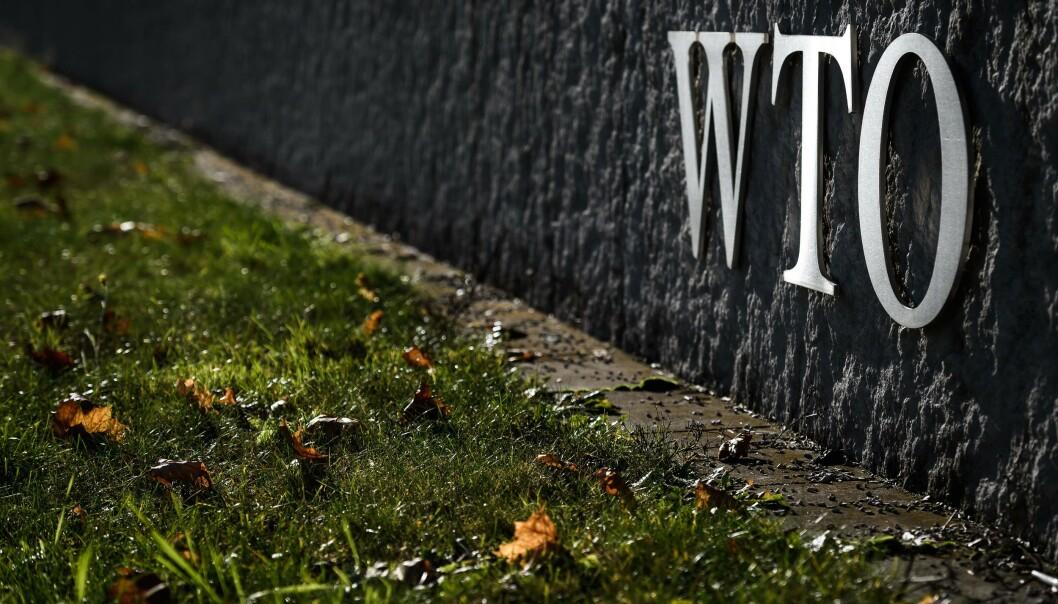 <strong>I STÅ:</strong> Verdens handelsorganisasjon slutter å fungere i dag. To av tre dommere går av med pensjon, og Donald Trumps administrasjon blokkerer for utnevnelsen av nye dommere. Foto: Fabrice Coffrini / AFP / NTB Scanpix