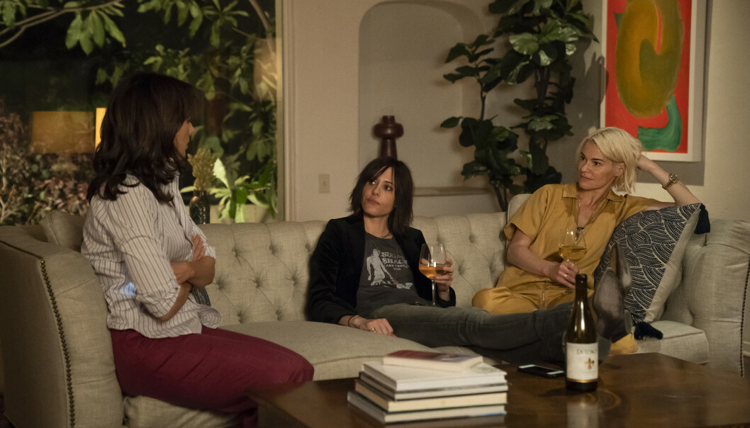 <strong>ORIGINALENE:</strong> (Fra venstre) Bette (Jennifer Beals), Shane (Katherine Moennig) og Alice (Leisha Hailey) var alle med i de originale «The L Word»-episodene. Foto: Hilary Bronwyn Gayle / SHOWTIME / HBO
