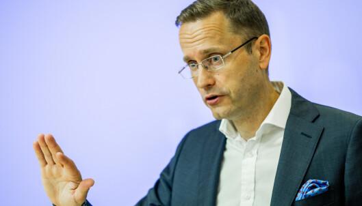 <strong>BEKYMRET:</strong> Snorre Storset, administrerende direktør i Nordea, er bekymret over funnene i undersøkelsen. Foto: Vegard Wivestad Grøtt / NTB scanpix