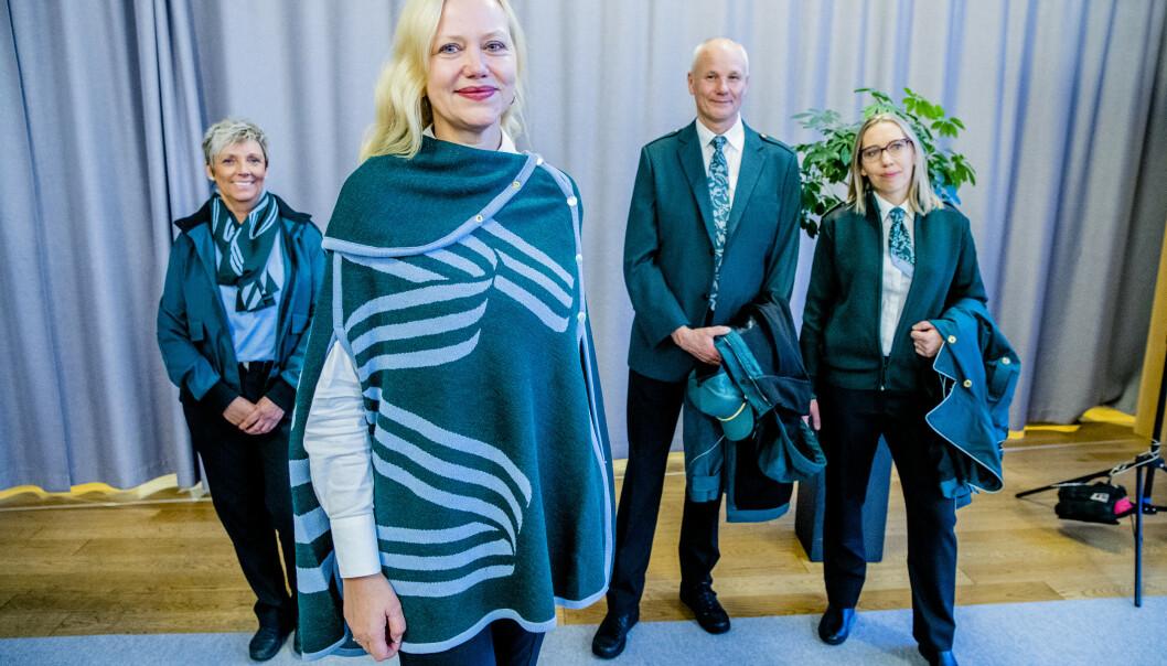 <strong>VY BLIR NY:</strong> Markedsdirektør i Vy, Merete Møystad, på visningen av Vys nye uniformer. Foto: Stian Lysberg Solum / NTB scanpix