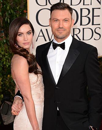<strong>PRISUTDELING:</strong> Megan og Brian under Golden Globe i 2013. Foto: NTB Scanpix