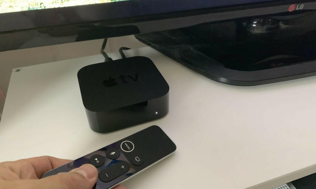 LITEN BOKS MED STORT INNHOLD: Apple TV er etter vår mening den beste smart-tv-løsningen på markedet. Foto: Bjørn Eirik Loftås