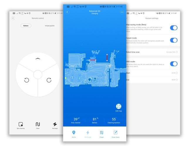 FLOTT APP: Xiaomi har en svært polert app til sine robotstøvsugere, som byr på det meste av funksjonalitet. Foto: Pål Joakim Pollen