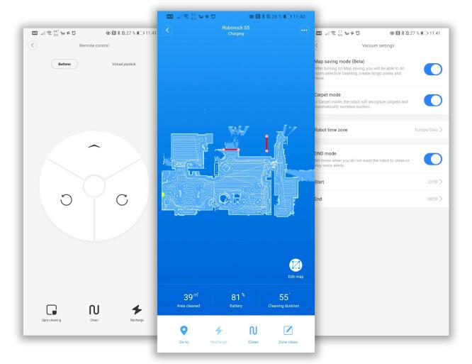 <strong>FLOTT APP:</strong> Xiaomi har en svært polert app til sine robotstøvsugere, som byr på det meste av funksjonalitet. Foto: Pål Joakim Pollen