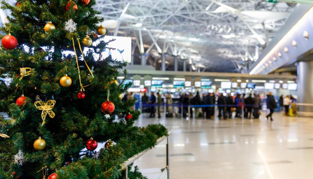 <strong>FLYJUL:</strong> Jeg kan nesten ikke tenke meg verre sted å starte juleferien enn på en flyplass. Foto: Shutterstock/NTB Scanpix